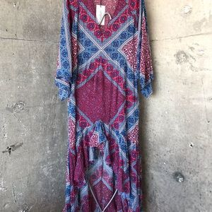 Ba&Sh USSO paisley crepe dress